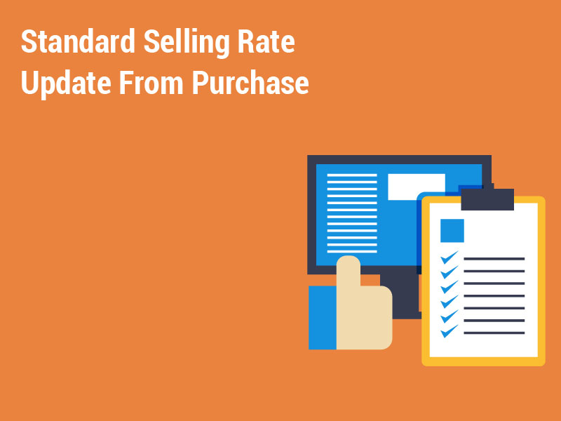 Standard Selling Rate Update From Purchase
